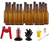 Set Completo de Accesorios para la Fabricación de Cerveza Artesana (Chapadora Roja, Árbol Secador y Kit Higienizante)