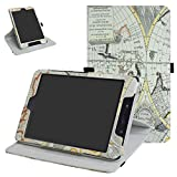 ZenPad Z8s ZT582KL / Z8 ZT582KL-VZ1 Rotating Case,Mama Mouth 360 Degree Rotary Stand with Cute Pattern Cover for 7.9' Asus ZenPad Z8s ZT582KL / Z8 ZT582KL-VZ1 Android 7.0 Tablet,Map White