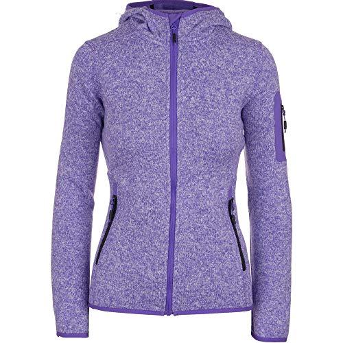 CMP Kiara II - Chaqueta de forro polar para mujer con capucha, resistente al viento y ligero, en tallas grandes y muchos Color lila. 50