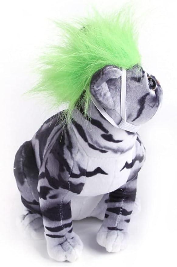 BEISHI Dedication New life Dress Up Pet Hair Headdress Wig for Accessories Cat Dog C