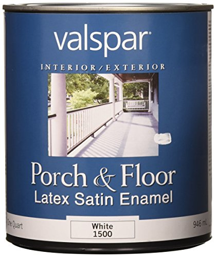 Valspar 27-1500 QT 1 Quart White Porch and Floor Latex Satin Enamel