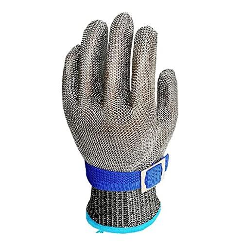 Acero inoxidable manga de mano alambre de metal de malla resistente a la mano transpirable carnicero pesca de pesca de seguridad de la manga de la mano de la carne L