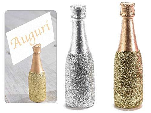 Gruppo Maruccia Segnaposto a Forma di Bottiglia di Spumante Set da 24 Pezzi