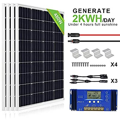 ECO-WORTHY 12V 400W Solar Panel Kit