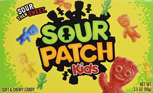 Sour Patch Kids 'Now Including Blue' Soft & Chewy Candy Net Wt 3.5 Oz (99g) - 3 Pack
