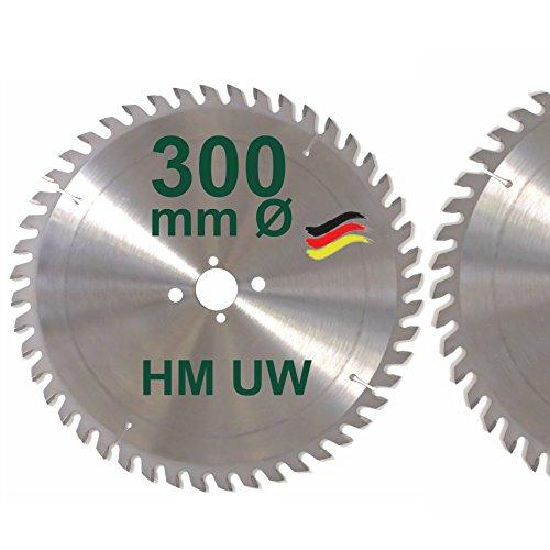 HM Sägeblatt 300 x 30 mm Zähne 48 UW Kreissägeblatt Handkreissäge Hartmetall 300mm Ersatzsägeblatt für DeWalt / Elektra / Elu / Haffner / Holz-Her / Metabo / Scheppach / Schleicher / Striebig / Ulmia