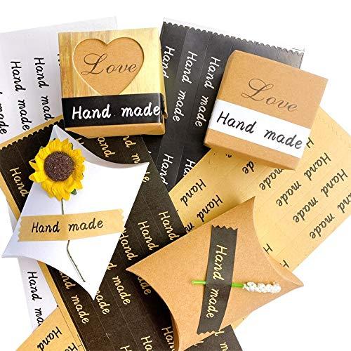 BLOUR 120 Stück/Packung Handgemachte rechteckige Versiegelung Aufkleber DIY hausgemachte Dekoration Briefpapier PalAufkleber Handgemachte Geschenk