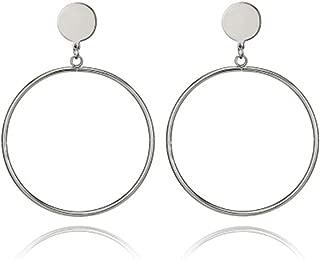 Statement Large Hoop Dangle Drop Earrings For Women Girls Gold Tone