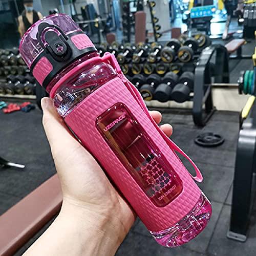 SDGSDG Borraccia Sportiva, Senza BPA,Sporty water cup portable large capacity fitness kettle-Pink_700mlAdatto per viaggi, ciclismo, fitness