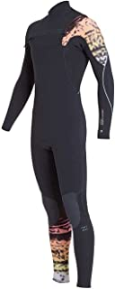 Billabong Furnace Carbon Comp 3/2MM Chest Zip Wetsuit Graphite- Lightweight Easy Stretch Thermal Furnace Lining Quick Dry
