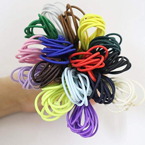 Tiumso 16 Colors 2mm Elastic Cord for Bracelet Making Jewelry Making Colorful Round Elastic Bands for Beading Elastic Rope