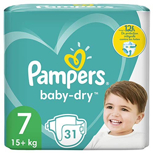 Pampers Baby-Dry Gr. 7 31 Windeln bis 12 Stunden Schutz 15 kg