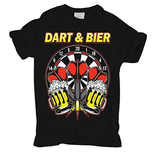 Männer und Herren T-Shirt Dart und Bier Man bringet Mir mehr Zielwasser (mit Rückendruck) Größe S - 8XL