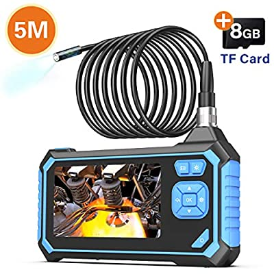 Industrial Endoscope,SKYBASIC 1080P HD Digital Borescope 4.3 Inch LCD 1.6-198inch Focal Distance Snake Camera 2600mAh Video Inspection Camera with 8GB TF Card?16.5FT?