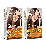 KATIVA Pack de 2 Alisado Brasileño Keratina con Aceite de Argán Hidrata y Alisa el Pelo Quita el Frizz 560 g