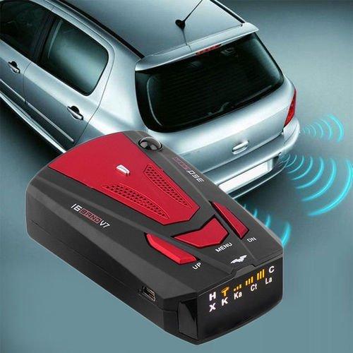 Rilevatore autovelox–360gradi Car Speed GPS radar 16Police Safe rilevatore di allarme vocale laser (rosso)