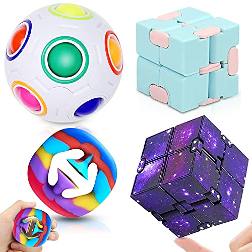 Fidget Toys Set Fidget Pack Sensory Toys for Kids and Adults, Stress Relief and Anti-Anxiety...