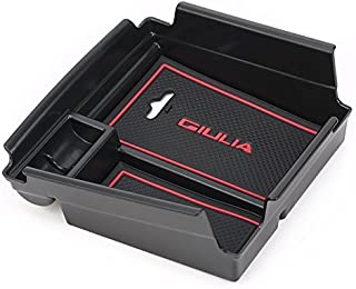 Vesul Armrest Secondary Storage Box Glove Pallet Center Console Tray Divider Fits on Alfa Romeo Giulia Sedan 2017 2018 2019