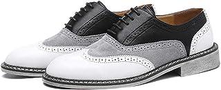 Chaussures en cuir pour homme, chaussures de costume Oxford Mode pointues Chaussures en cuir verni pour le travail, vintag...