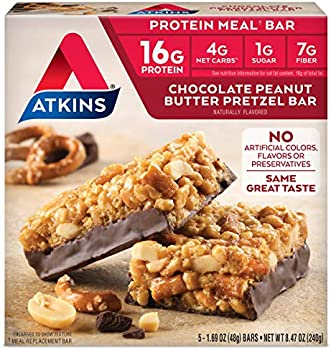 2-Count Atkins Chocolate Peanut Butter Pretzel Protein Meal Bar