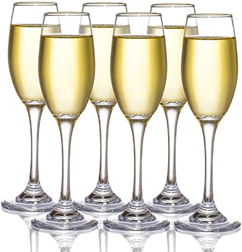 Lawei - Juego de 6 copas de champán para champán, cava prosecco, 210 ml
