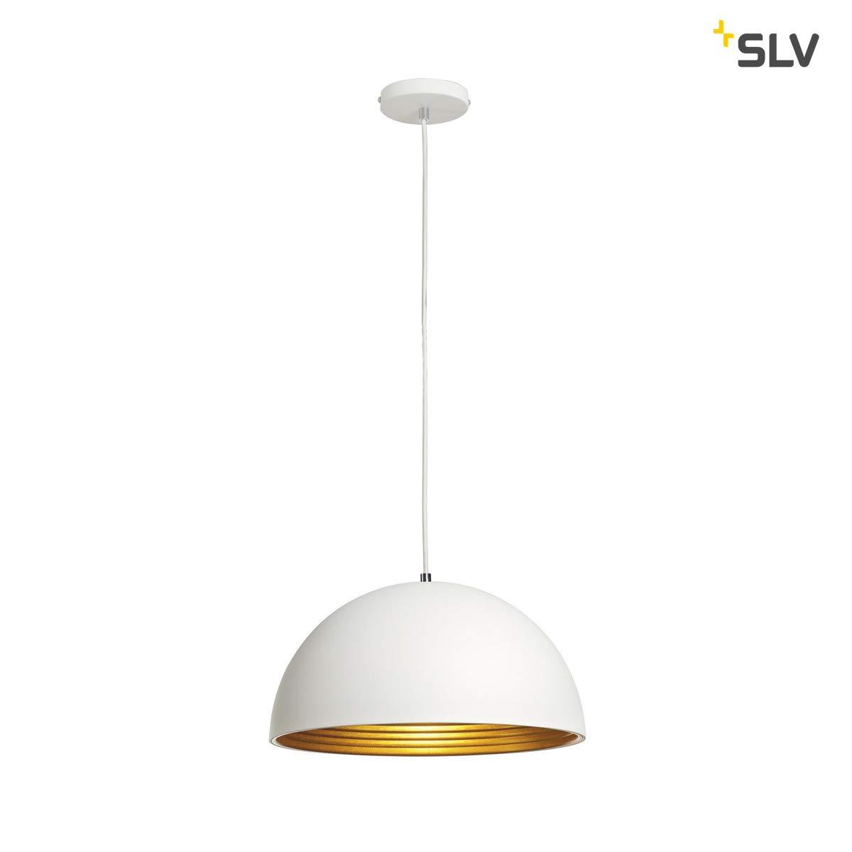 SLV 155911 SLV FORCHINI M 吊灯 PD-2 40cm 圆形白金 E27 *大值 40W,铝,白/金,