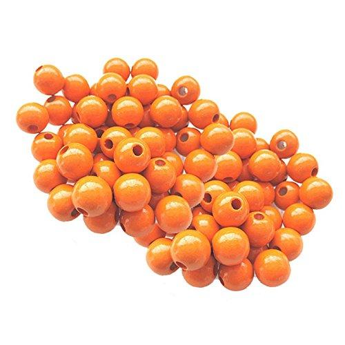 Lot 10 Perles Rondes Bois 12 mm
