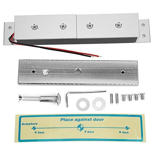 Homeriy Cerradura Magnética 280Kg / 617Lb 12V Puerta de Madera Cerradura Magnética Herrajes para Puertas Adecuados para La Instalación de Puertas Cortafuegos Puertas Antirrobo