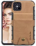 Case for iPhone 12 Pro Max Inch Mobile Phone Case Compatible with Apple iPhone 12 Pro Max Mobile Phone Cases Leather 360 Degree Flip Wallet Flip Case Card Slots Protective Mobile Phone Case SEAno1