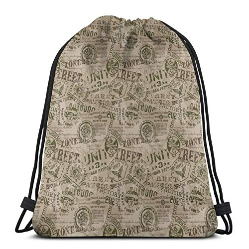 Nostalgic Pins From Different Countries Uniform Style Graphic Design Pattern,Gym Drawstring Bags Backpack String Bag Sport Sackpack Gifts For Men & Women