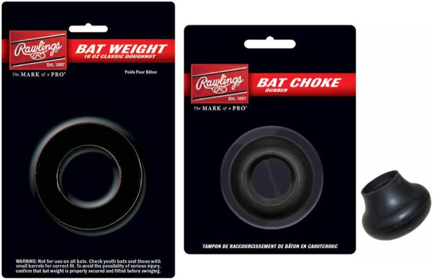 Rawlings OFFicial Doughnut Sale special price Style Bat Weight with Bundle Choke 16oz