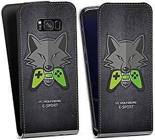 DeinDesign Flip Case kompatibel mit Samsung Galaxy S8 Plus Duos Tasche Hülle VFL Wolfsburg Esport Merchandise Fanartikel