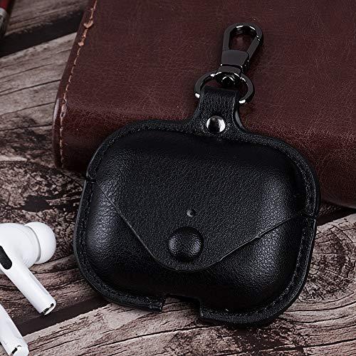 Hoesje Voor Air Pods Pro Airpods Pro Lederen Hoesje Oortelefoon Opladen Doos Case Voor Airpods Air Pods Pro TWS Bluetooth Oortelefoon Case QWERTB (Kleur : Zwart)