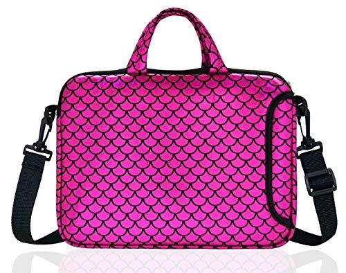 14-Inch Laptop Shoulder Carrying Bag Case Sleeve For 13' 13.3' 14 inch Macbook/Notebook/Ultrabook/Chromebook, Mermaid Scale (Purple)