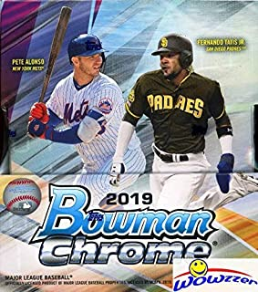2019 Bowman Chrome Baseball Factory Sealed HOBBY Box with TWO(2) AUTOGRAPHS! Look for RC's & Auto's of Pete Alonso, Vladimir Guerrero Jr, Wander Franco, Joey Bart, Eloy Jimenez & Many More! WOWZZER!