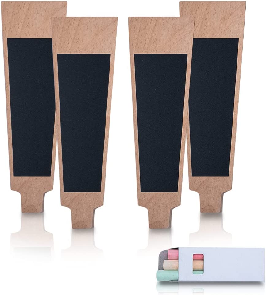 G1D Chalkboard Beer Tap Handles Courier shipping Seasonal Wrap Introduction free Wooden 4 – Pack