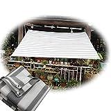 LKP Lona De Sombra De Balcón Protección Solar, Toldo Vela Canopy Transpirable, Toldos De Malla Sombreadora para Jardín/Terraza (1.5 X 3 M)