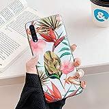 Herbests Kompatibel mit Samsung Galaxy A70 Hülle Silikon Handyhülle Mode Blätter Blumen Muster...