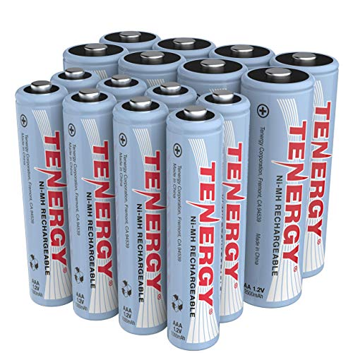 Tenergy High Drain AA and AAA Battery, 1.2V Rechargeable NiMH Batteries Combo, 8-Pack 2500mAh AA Cells and 8-Pack 1000mAH AAA Cell Batteries