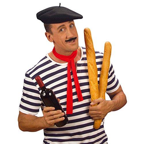 NET TOYS Baskenmütze Hut Franzose Franzosenhut Basken Mütze Franzosen Hut Baske Kopfbedeckung Ingo Frankreich Kostüm Zubehör