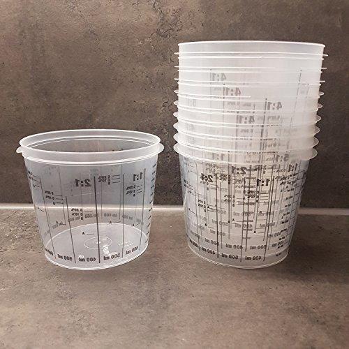powerpreis24® 25 Stück Farbmischbecher Mischbecher mit Skala 1400 ml