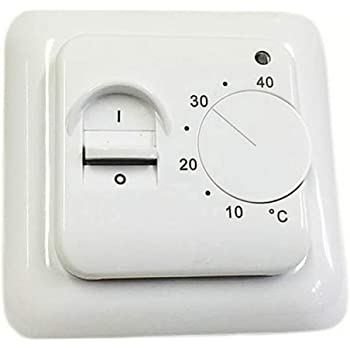 230 V Unterputz AEG 184879 FTE 900 SN 2-Punkt-Fu/ßbodentemperaturregler 16 A
