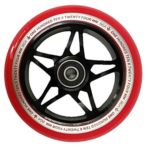 Blunt One S3 - Rueda para patinete (110 mm), color negro y rojo