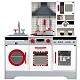 Mmrm2 Juguetes de Cocina Juego Imitación Educativo Infantil De Madera Multi-équipement 82 x 26,5 90 cm Rojo Entrega en 5 a 12 días