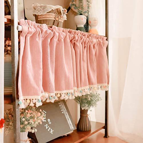 XINGG Half Window Tab Top Cafe Curtain, Half Curtains Small Curtains For Bathroom Windows, Sheer Cafe Curtain, Sheer Cafe Curtains For Bedroom, W15.7*L39.4inch
