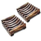 njhswlti 2 STÜCKE naturholz seifenkiste Bad Bambus seifenständer waschbecken Deck badewanne...