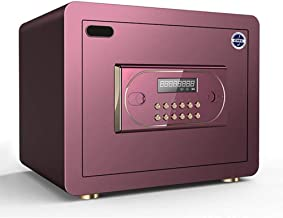 Safe Box Home and Office Portable Mini Electronic Steel, Digital Password, Automatic Alarm System,Purple
