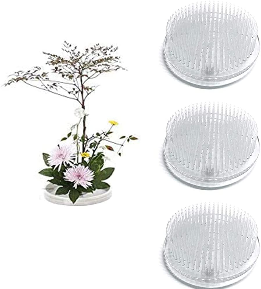 3 Pcs Clear Japanese Ultra-Cheap Deals Cheap super special price Floral Kenzan Frogs 2.76