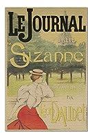 Le Journal - Suzanne-Leon Daudet ビンテージポスター (アーティスト:Lucas) フランス c. 1897 (プレミアム1000ピース大人用ジグソーパズル 19x27)