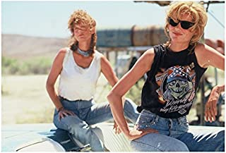 8727a17ccf Thelma and Louise Susan Sarandon and Geena Davis Posing in Car 8 x 10 Inch  Photo